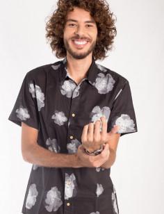 Camisa de Botão Origens Flores Aquarela