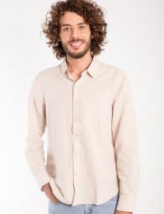 Camisa de Botão Origens Linho Bolso