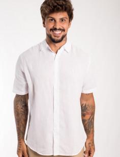 Camisa de Botão Origens Linho Manga Curta